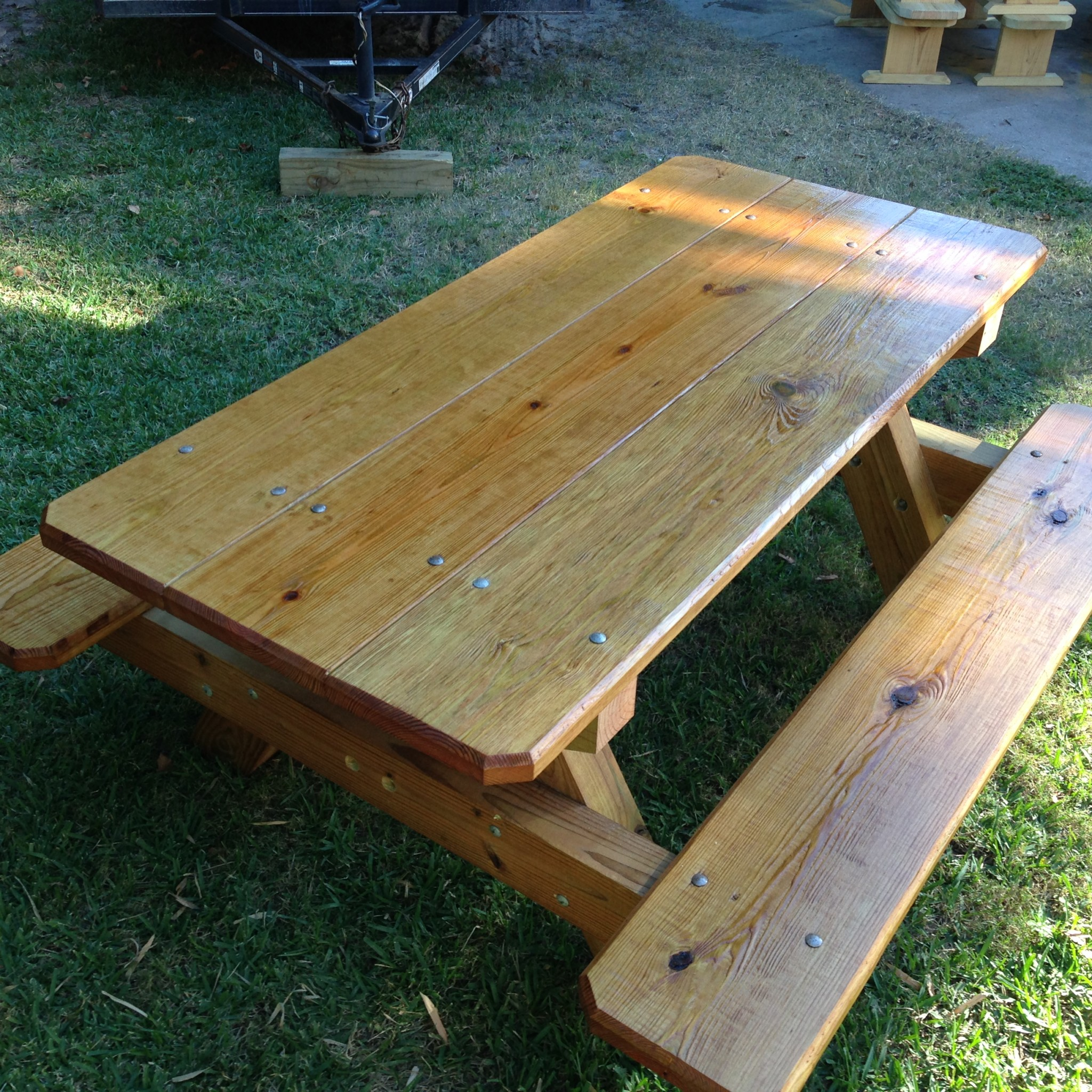 Picnic Tables NOLA Woodworks - How to stain a picnic table