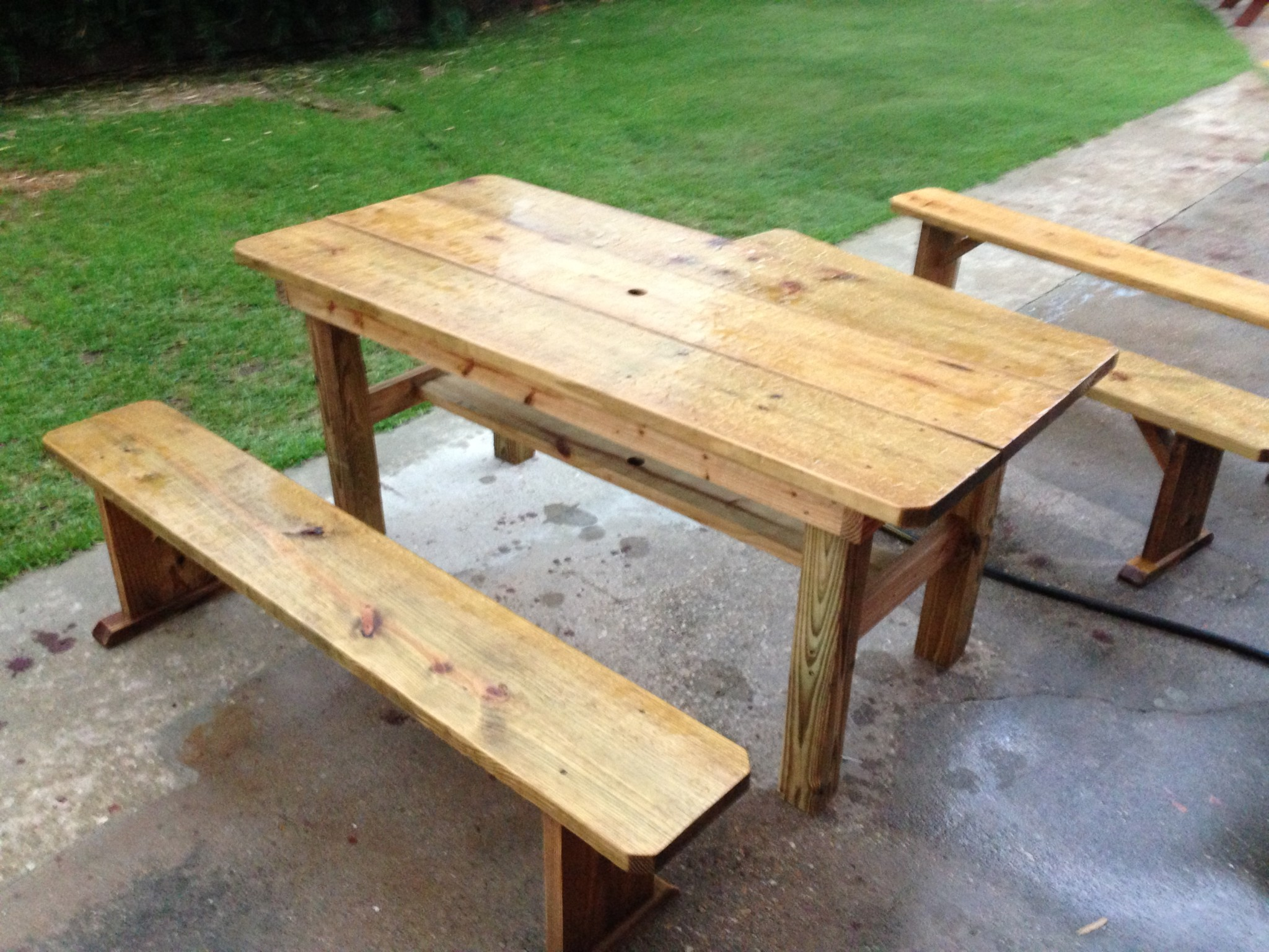 Picnic Tables NOLA Woodworks - Treated lumber picnic table