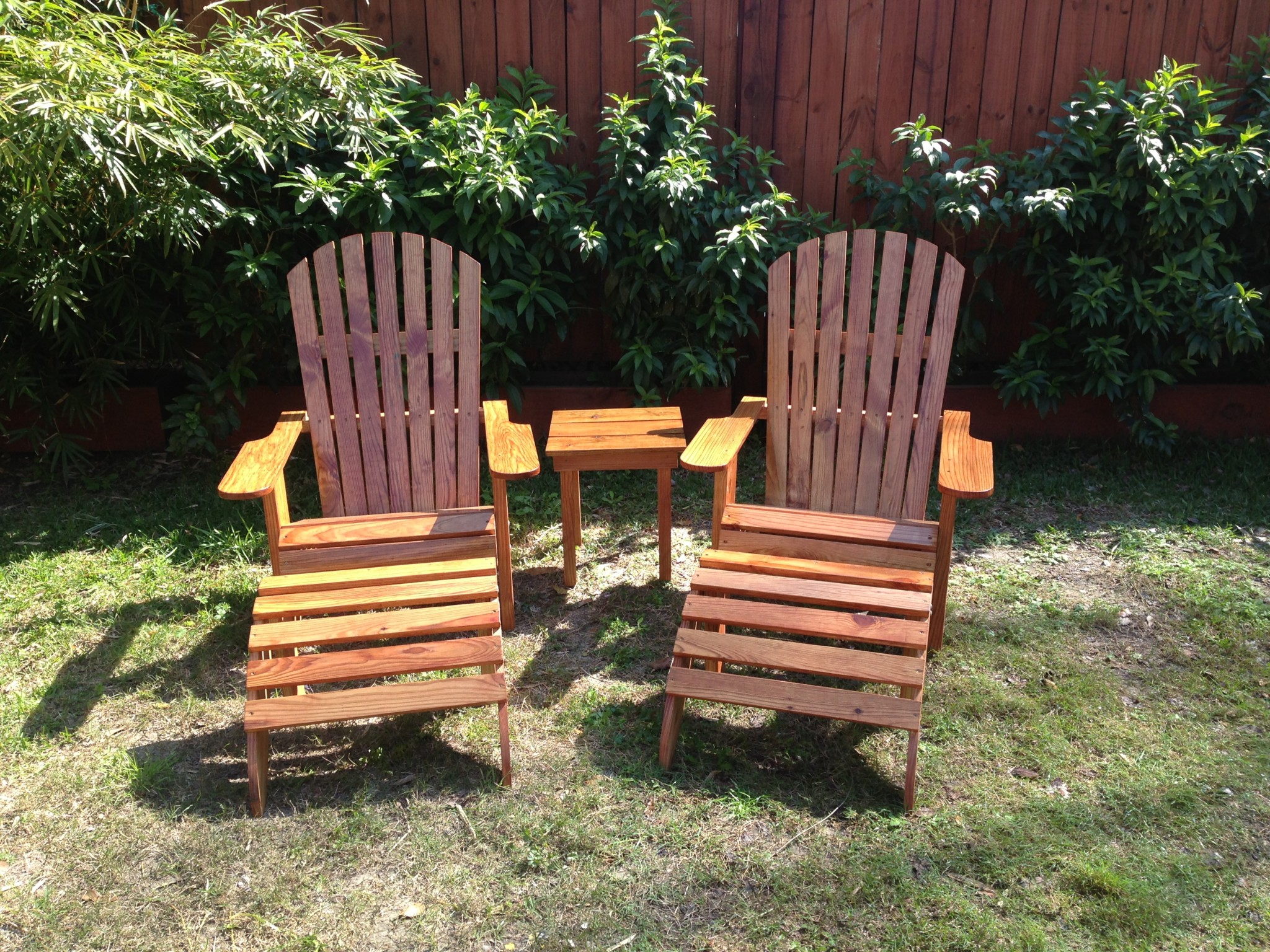 unfinished ottoman resistant p weather chair adirondack set chairs fir wood and c htm