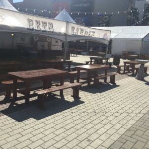 Boudin Bourbon & Beer Fest - Farm Tables & Benches for rent