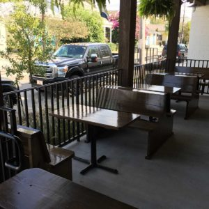 Tables & Benches at Port Orleans Brewing Company